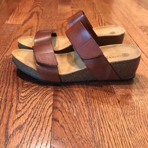 Lola Sabbia Brown Leather Sandals- NWT